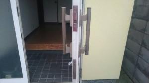 【施工前】自宅兼会社の勝手口の鍵を交換(大阪府泉佐野市)